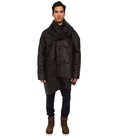 Vivienne Westwood MAN - Quilted Nylon Blanket Coat (Black) Men