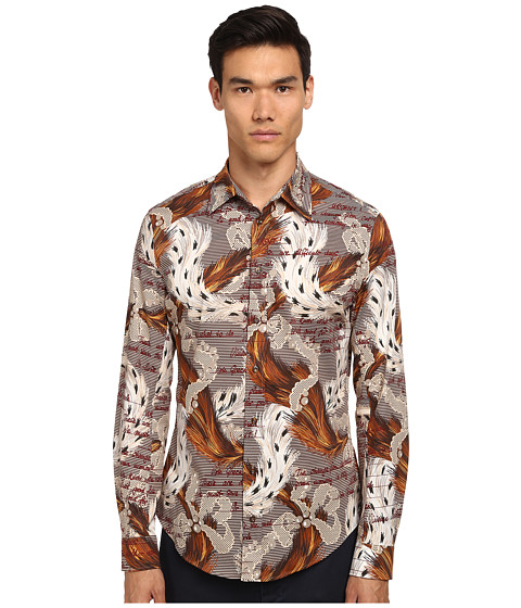 Vivienne Westwood MAN - Ermine Print Classic Stretch Shirt (Multi) Men