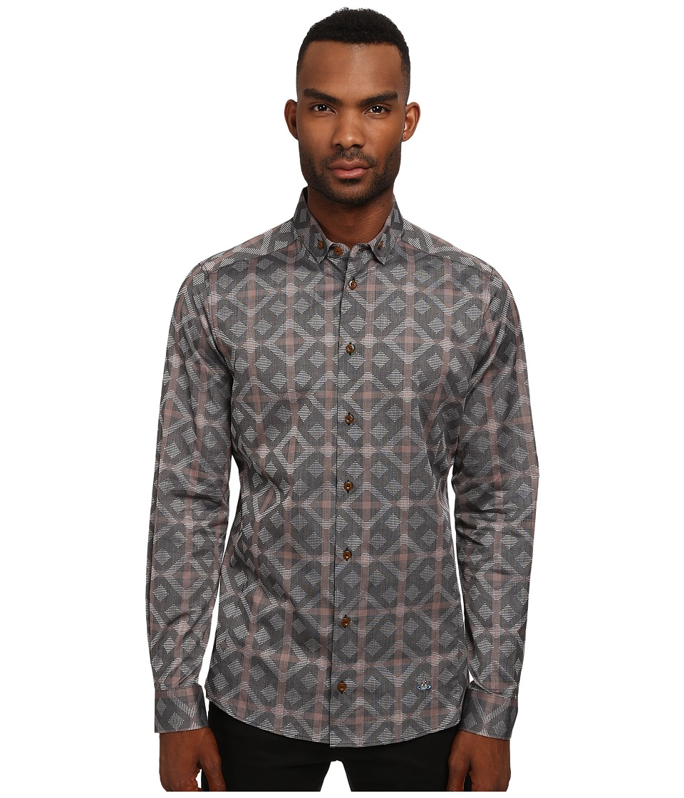 Vivienne Westwood - Black Diamond Stretch Shirt (Multi) Men's Clothing