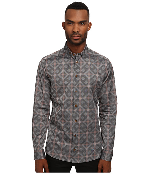 Vivienne Westwood MAN - Black Diamond Stretch Shirt (Multi) Men's Clothing