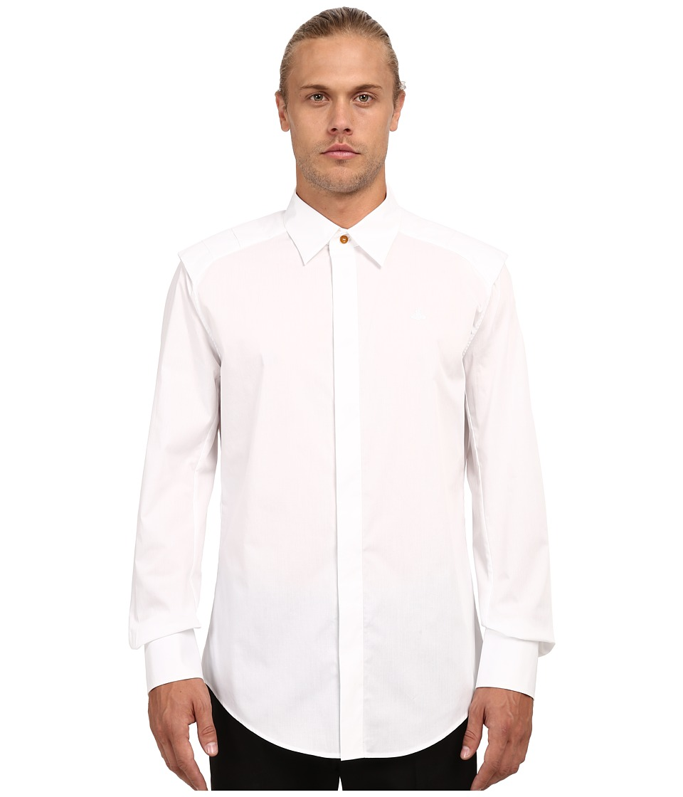 Vivienne Westwood - Stretch Poplin Armour Shirt (White) Men's Long Sleeve Button Up