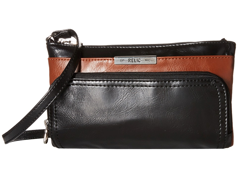 Relic - Caraway Double Zip Mini (Black) Cross Body Handbags
