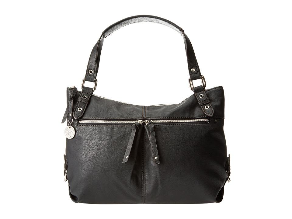Relic - Finley Double Shoulder (Jet Black) Shoulder Handbags