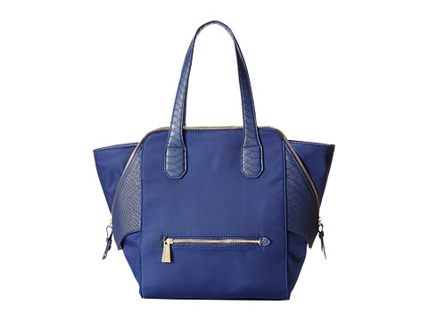 olivia + joy - Valerie Nylon Double Handle (Navy Nylon) Satchel Handbags