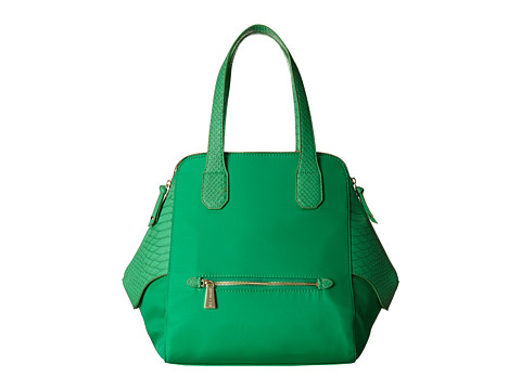 olivia + joy - Valerie Nylon Double Handle (Jade Nylon) Satchel Handbags