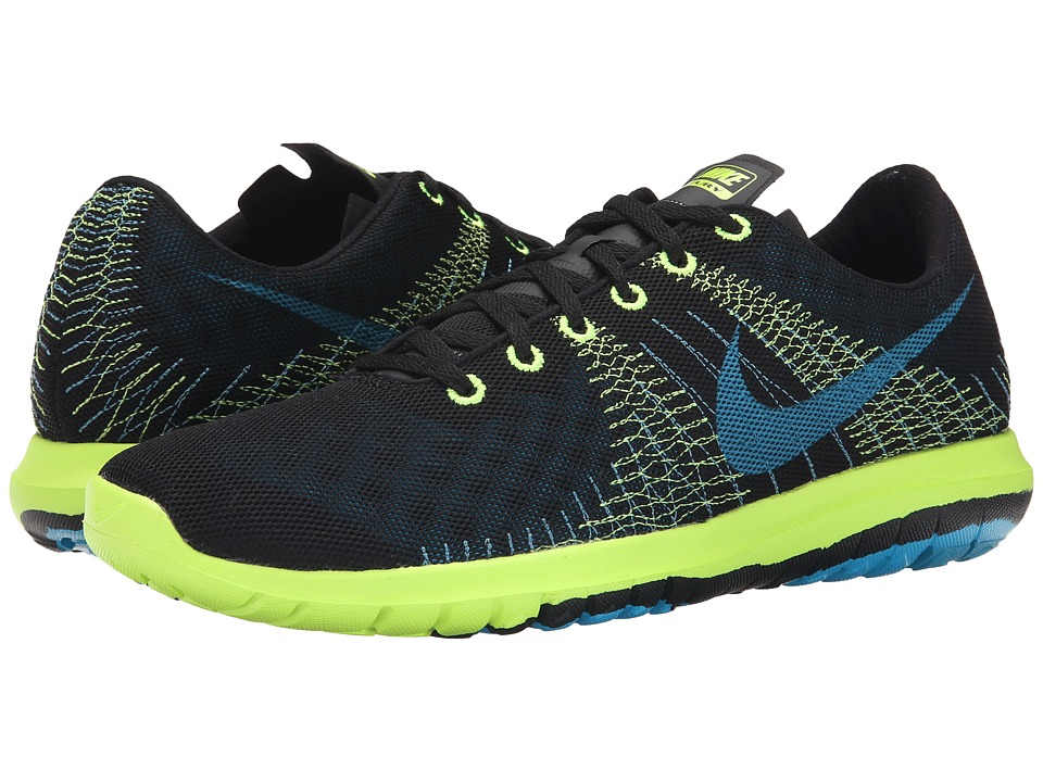 Nike Flex Fury (Black/Volt/Stratus Blue/Blue Lagoon) Men
