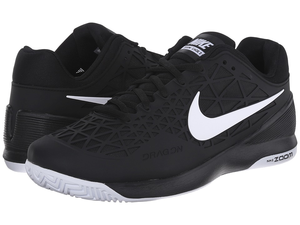 Nike - Zoom Cage 2 (Black/White 1) Men's Tennis Shoes