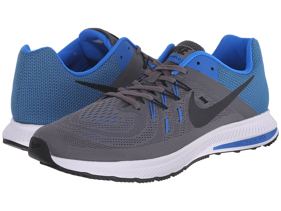 Nike Zoom Winflo 2 (Dark Grey/Soar/White/Black) Men's Run...