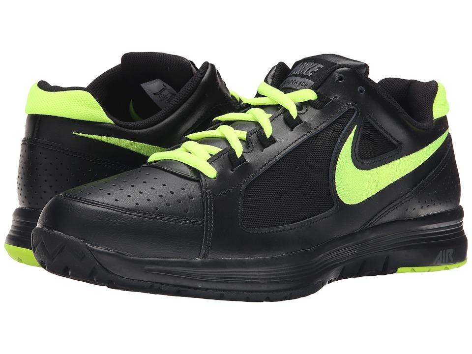 Nike - Air Vapor Ace (Black/Dark Grey/Volt) Men