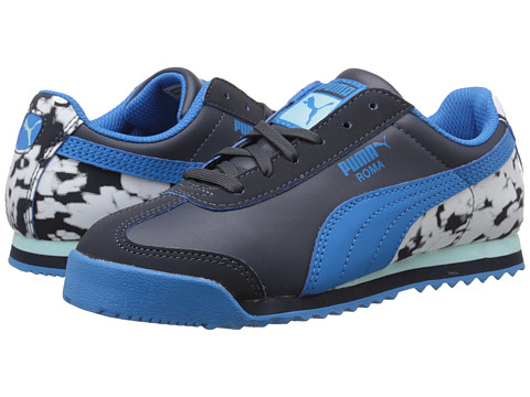 Puma Kids - Roma Basic Blur Jr (Little Kid/Big Kid) (New Navy/Cloisonne/Clearwater) Boys Shoes
