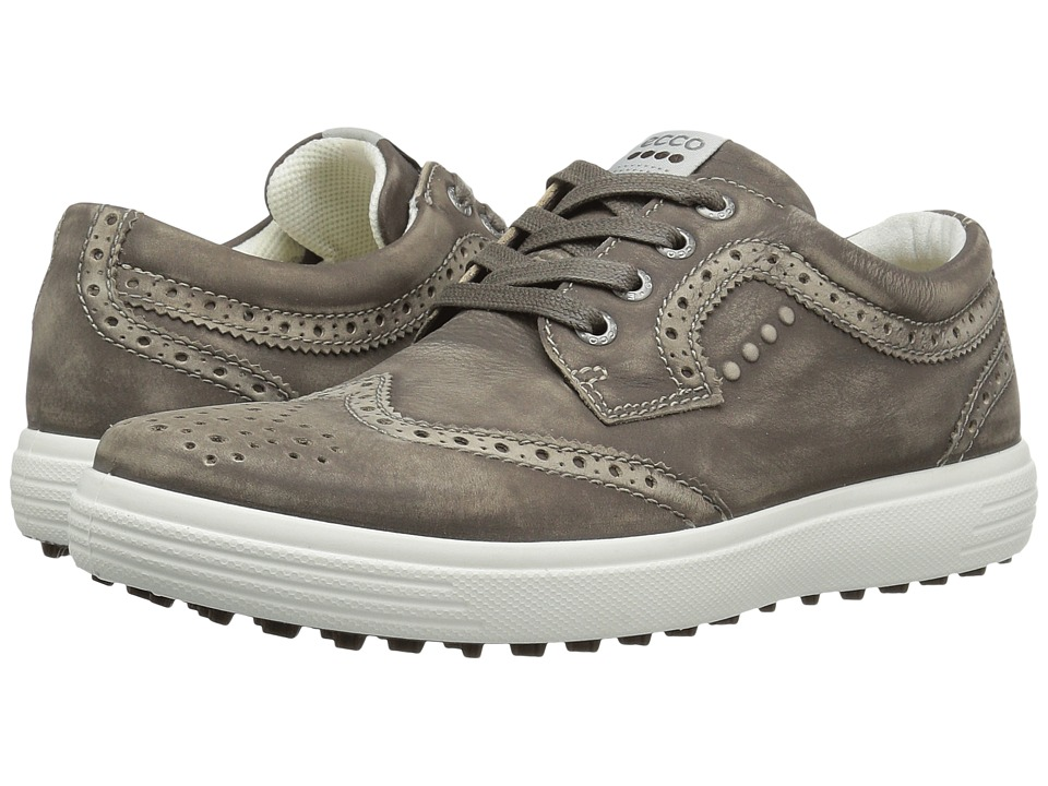 ECCO Golf - Casual Hybrid Wingtip (Dark Clay) Men's Golf Shoes