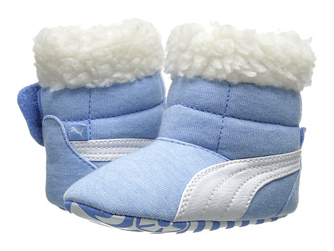 Puma Kids - Baby Boot Fur (Infant/Toddler) (Little Boy Blue/White) Boy