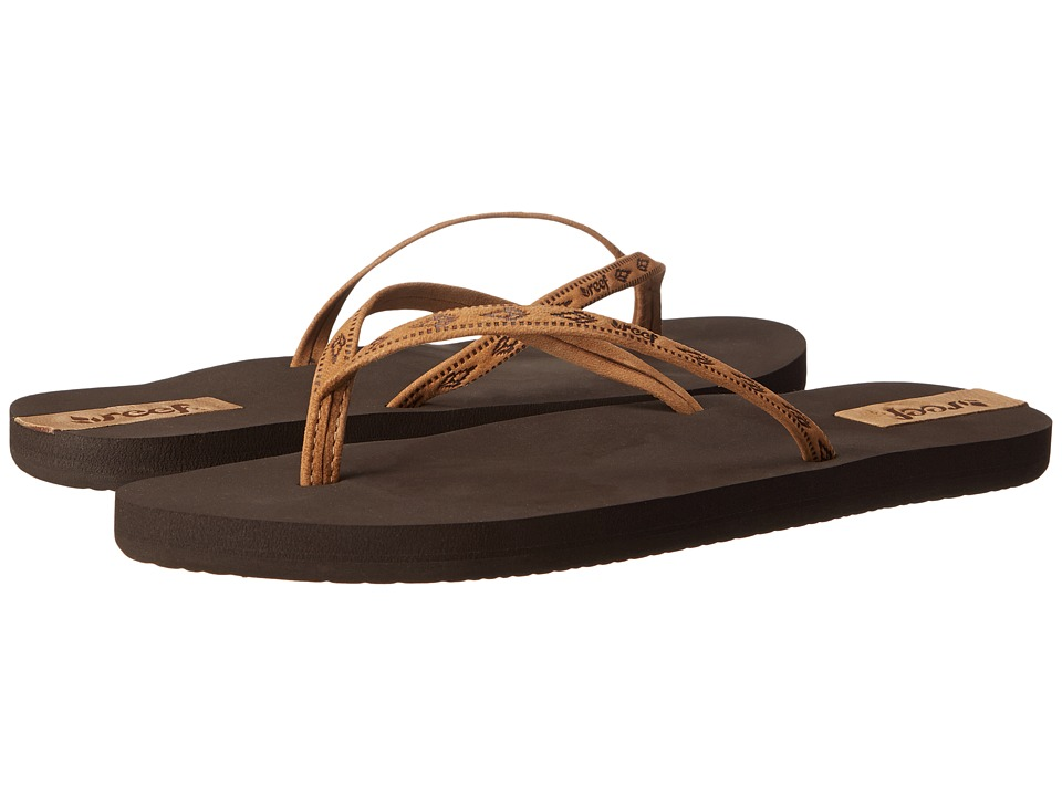 Reef - Slim Ginger Leather (Brown/Tan) Women's Sandals
