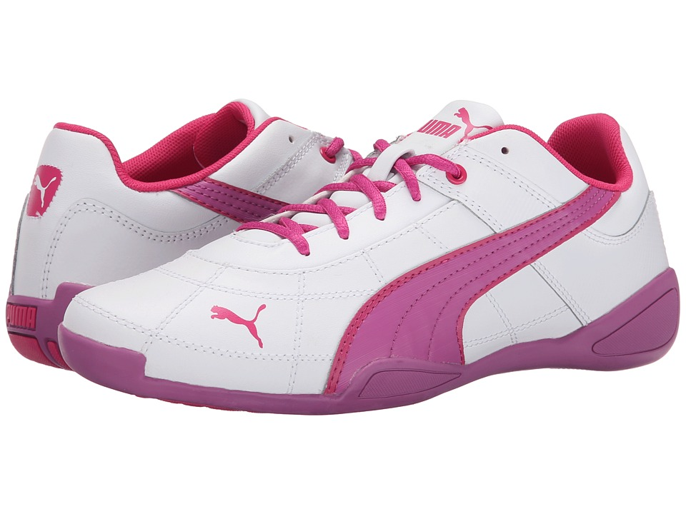 Puma Kids - Tune Cat B 2 Jr (Little Kid/Big Kid) (White/Meadow Mauve/Beetroot Purple) Girl's Shoes