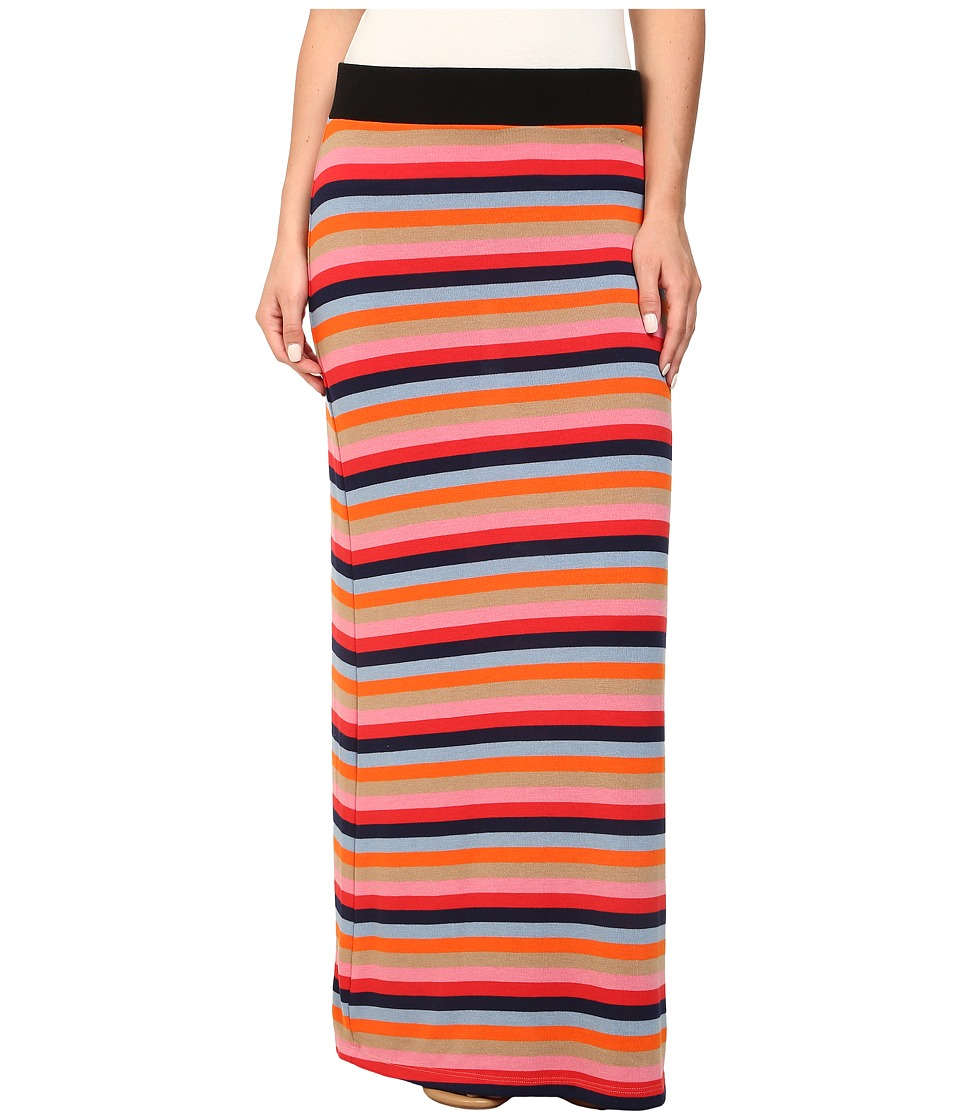 Nally & Millie - Rainbow Striped Maxi Skirt (Multi) Women