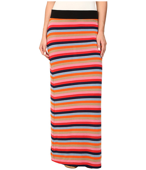 Nally & Millie - Rainbow Striped Maxi Skirt (Multi) Women's Skirt