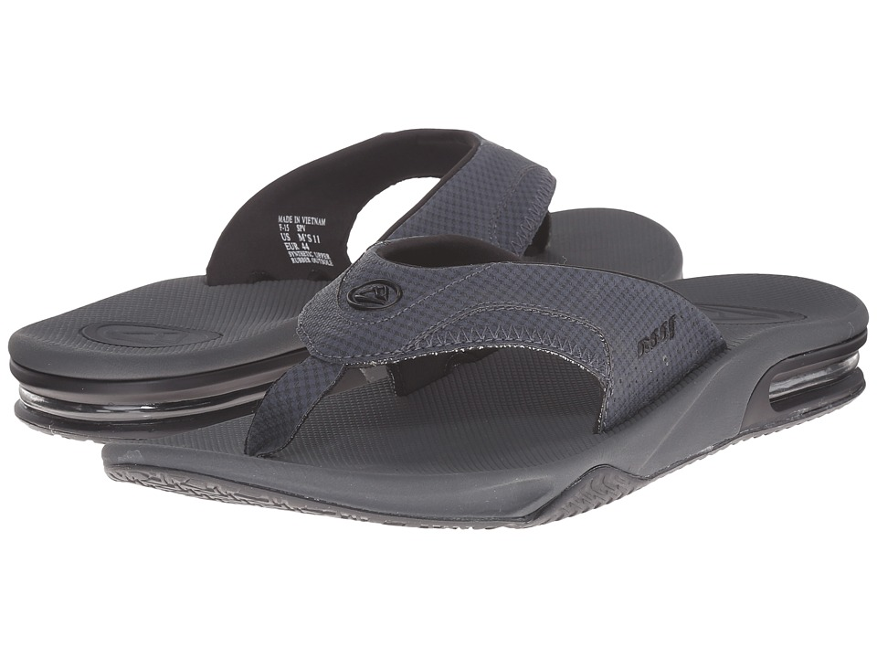 Reef - Fanning Prints (Blue Plaid TX) Men's Sandals