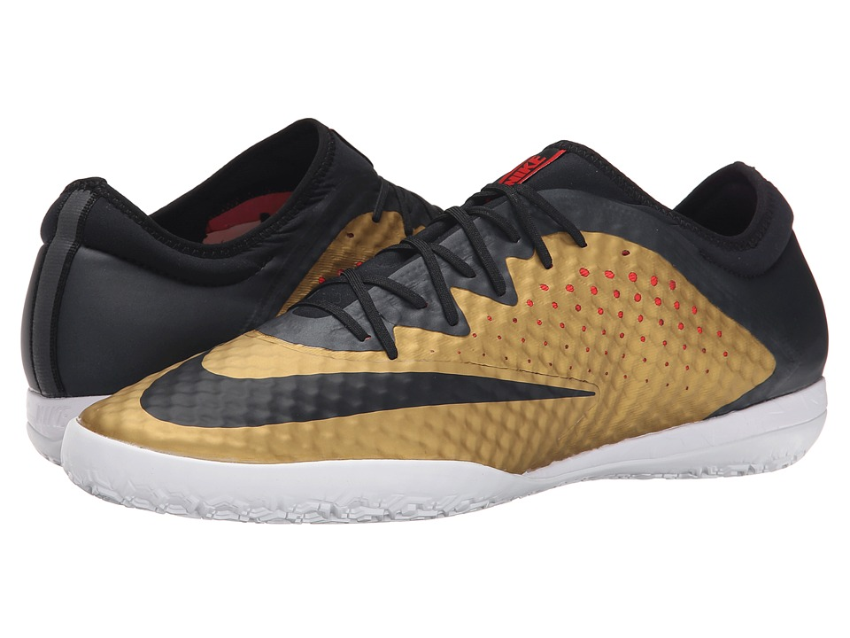 Nike - Mercurialx Finale IC (Metallic Gold/Challenge Red/White/Black) Men's Soccer Shoes
