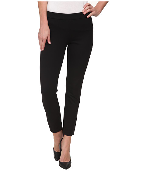 DKNYC - Bi-Stretch Skinny Ankle Side Zip Pants (Black) Women
