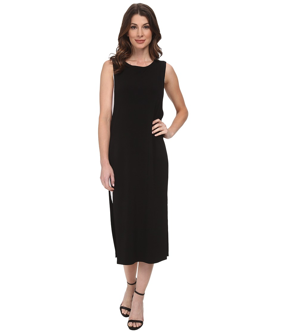 DKNYC - Drapey Matte Jersey Double Layer Maxi Dress (Black) Women
