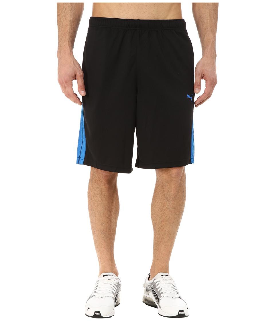PUMA - Formstripe 10 Short (Black/Electric Blue Lemonade) Men's Shorts