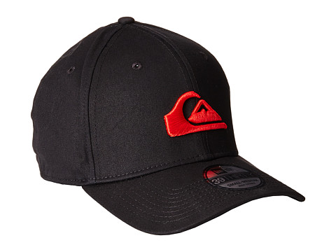 Quiksilver - Mountain Wave Black Hat (Quik Red) Caps
