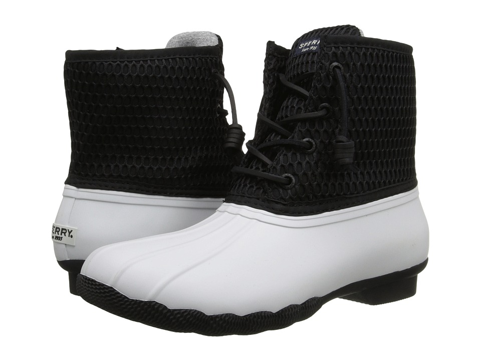 Sperry Top-Sider - Saltwater Honeycomb Mesh (White/Black) Women's Waterproof Boots