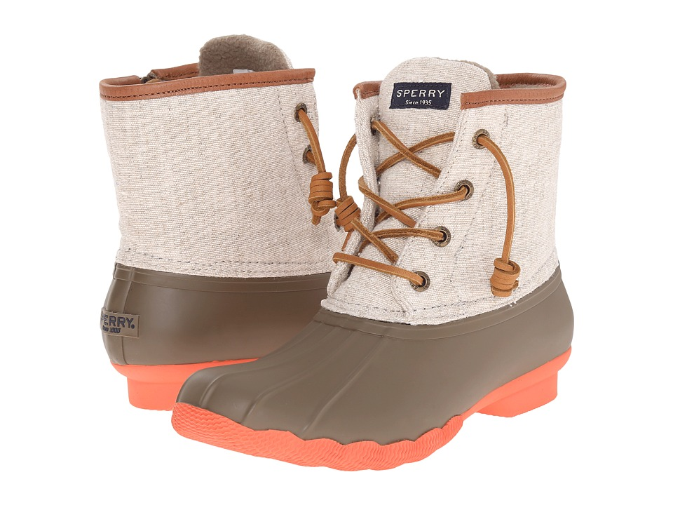 Sperry Top-Sider - Saltwater Hemp Canvas (Taupe/Natural) Women's Rain Boots
