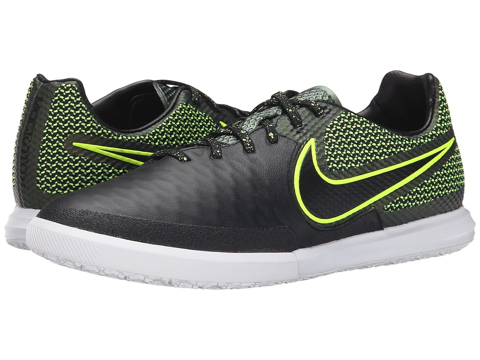 Nike - Magistax Finale IC (Black/Volt/White/Black) Men's Soccer Shoes