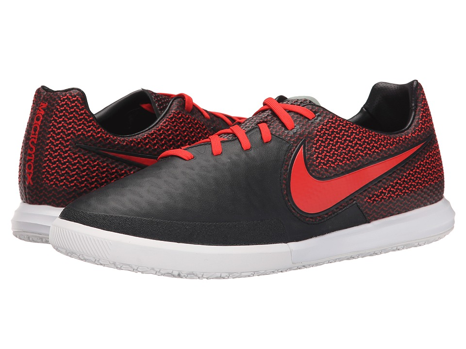 Nike - Magistax Finale IC (Black/White/Challenge Red) Men's Soccer Shoes