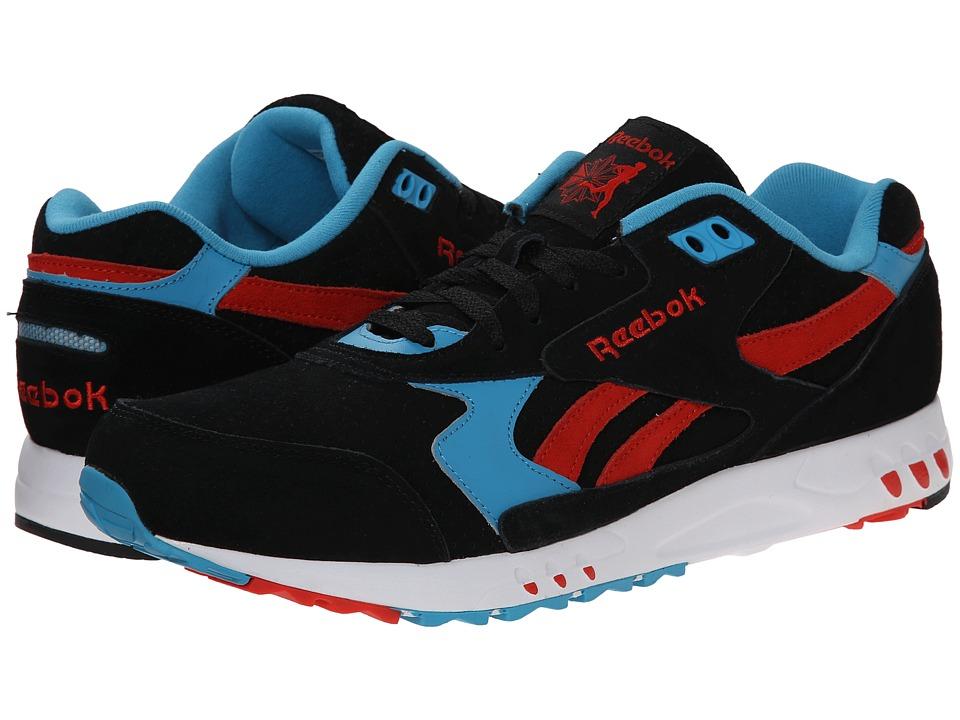 Reebok - Inferno Sport Suede (Black/China Red/Flight Blue) Men's Shoes
