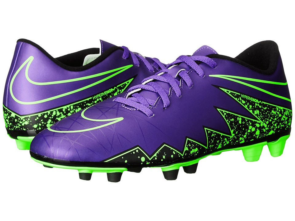 Nike - Hypervenom Phade II FG (Hyper Grape/Black/Hyper Grape) Men's Soccer Shoes