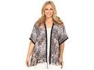 Plus Size Coral Reef Print Kimono