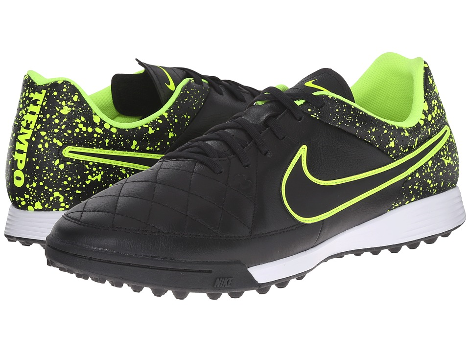 Nike - Tiempo Genio Leather TF (Black/Black) Men's Soccer Shoes