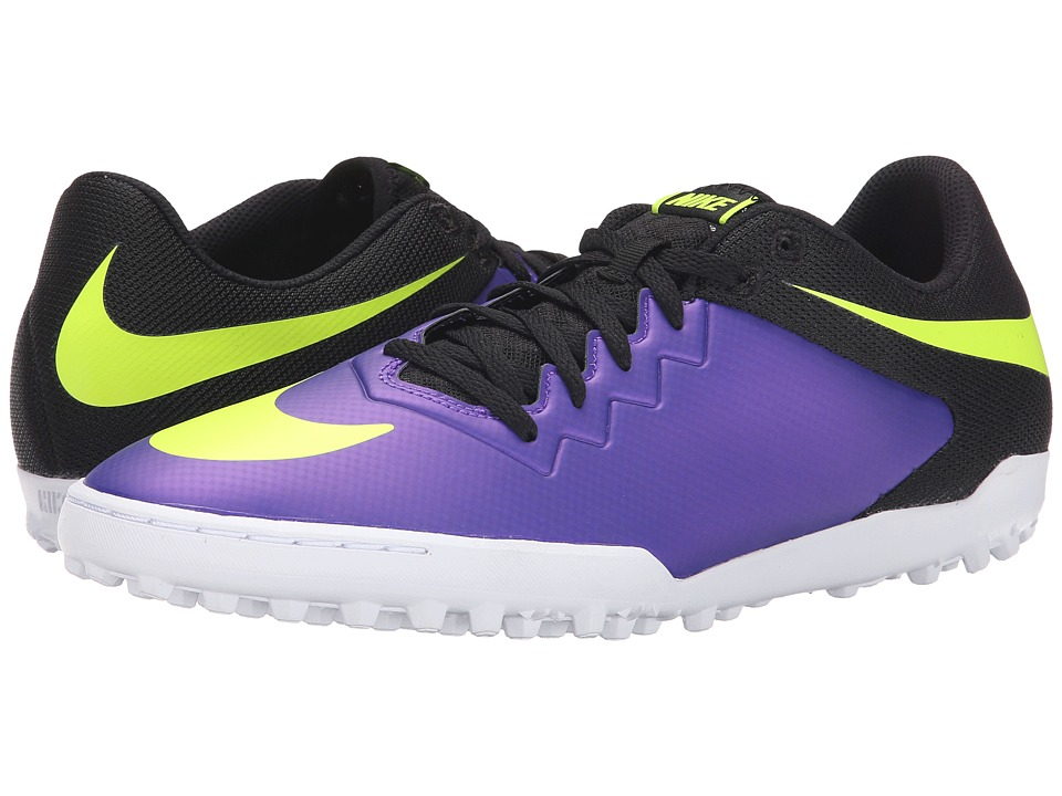 Nike - Hypervenomx Pro TF (Hyper Grape/Volt/White/Black) Men
