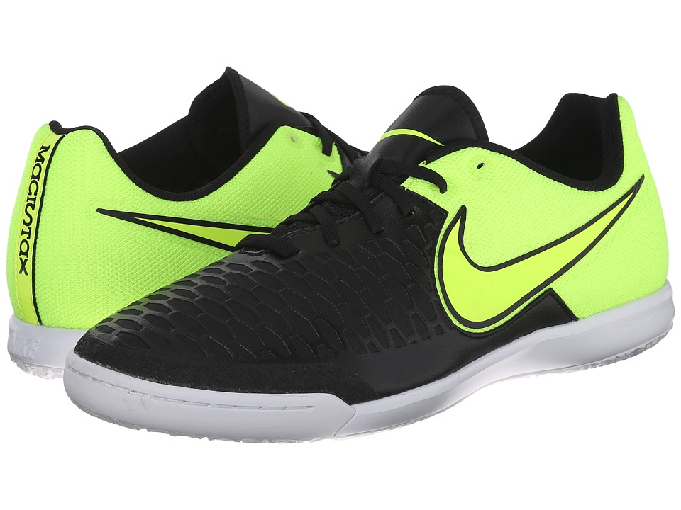 Nike - Magistax Pro IC (Black/Volt/White/Volt) Men's Soccer Shoes