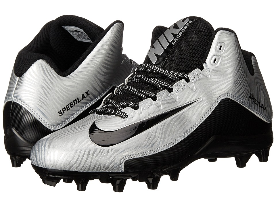 Nike - Speedlax 5 (Metallic Silver/Black/Black) Men's Cleated Shoes