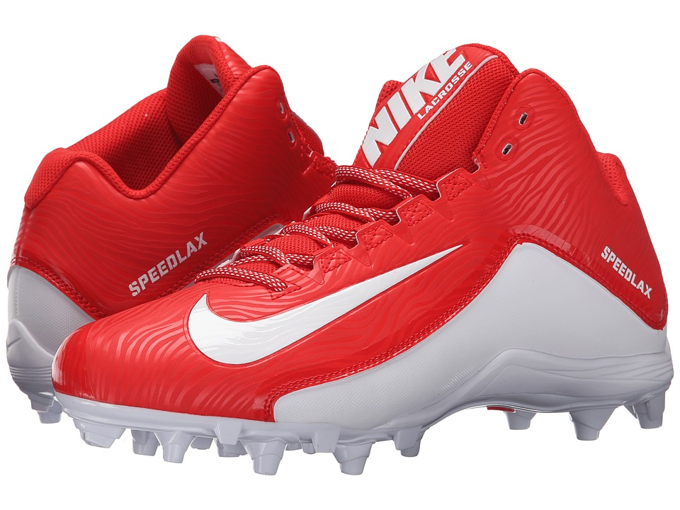 Nike - Speedlax 5 (Challenge Red/White/White) Men's Cleated Shoes