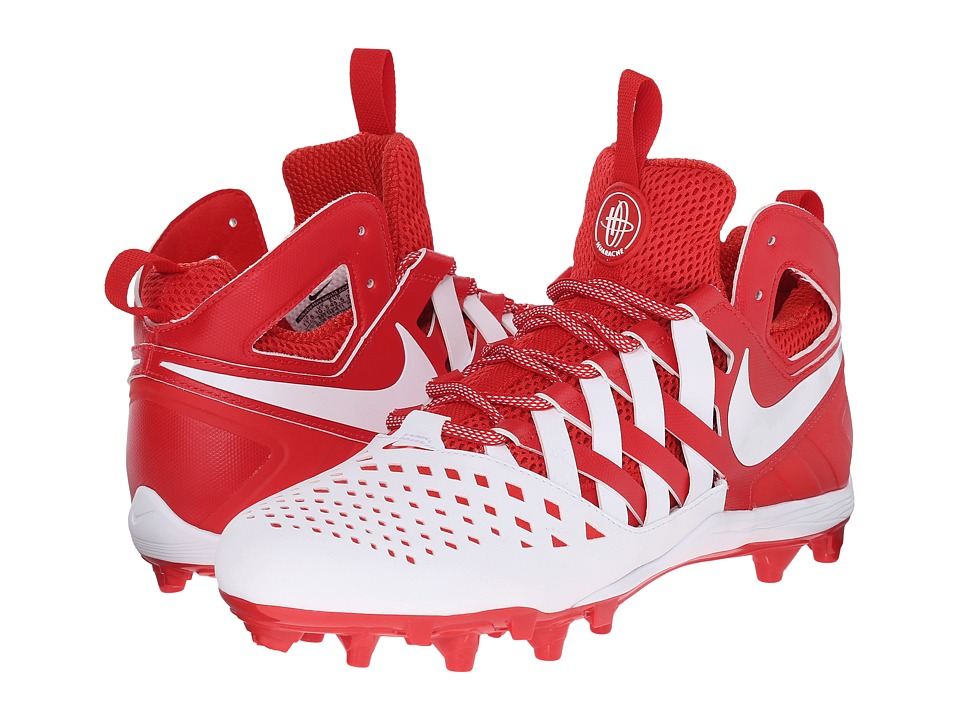Nike - Huarache V Lax (Challenge Red/White/White) Men's Cleated Shoes