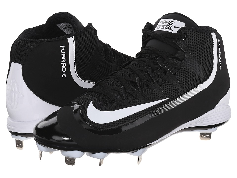 Nike - Huarache 2KFilth Pro Mid (Black/Anthracite/White) Men's Cleated Shoes