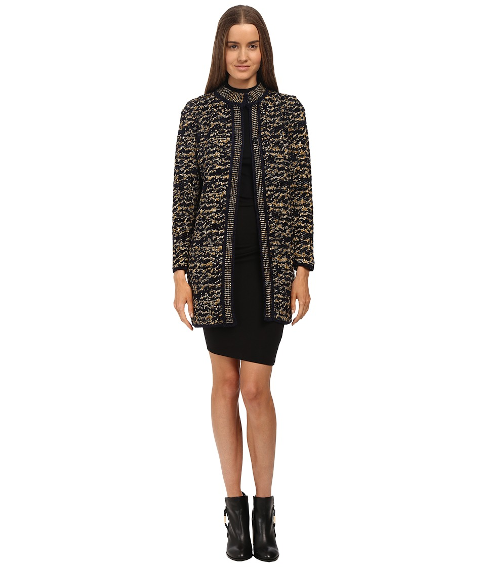 M Missoni - Knit Tweed Topper Coat (Gold) Women's Coat