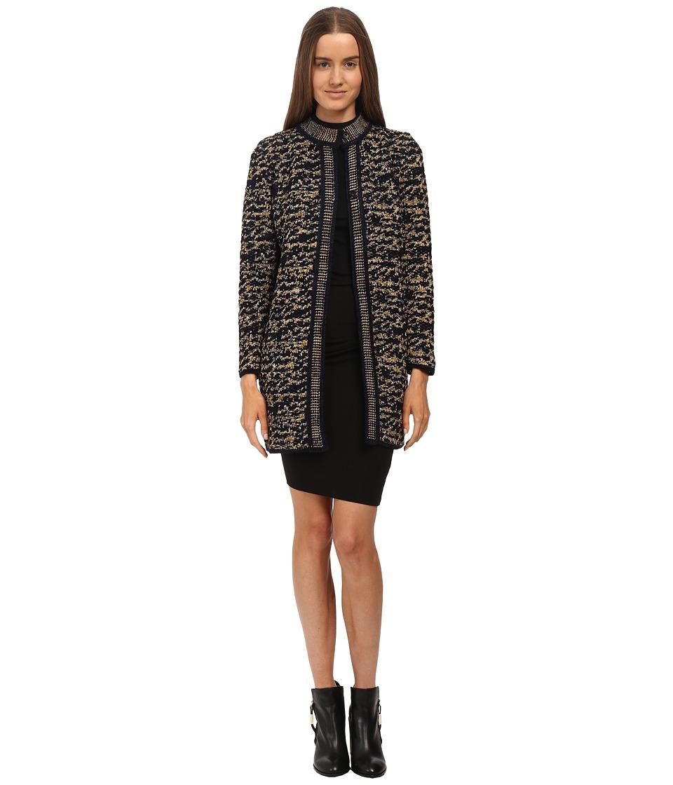 M Missoni - Knit Tweed Topper Coat (Gold) Women's Coat