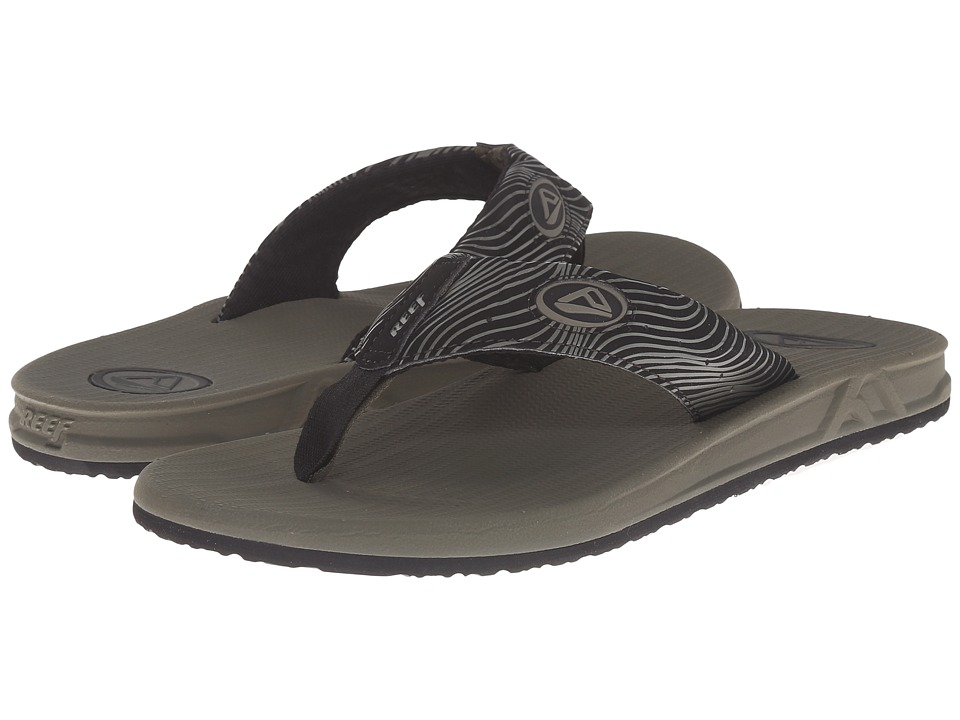 Reef - Phantom Prints (Olive Swell) Men's Sandals