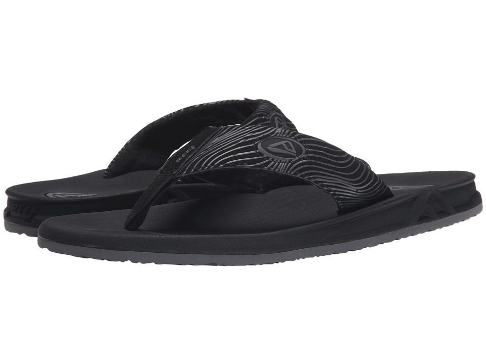Reef - Phantom Prints (Black Swell) Men's Sandals