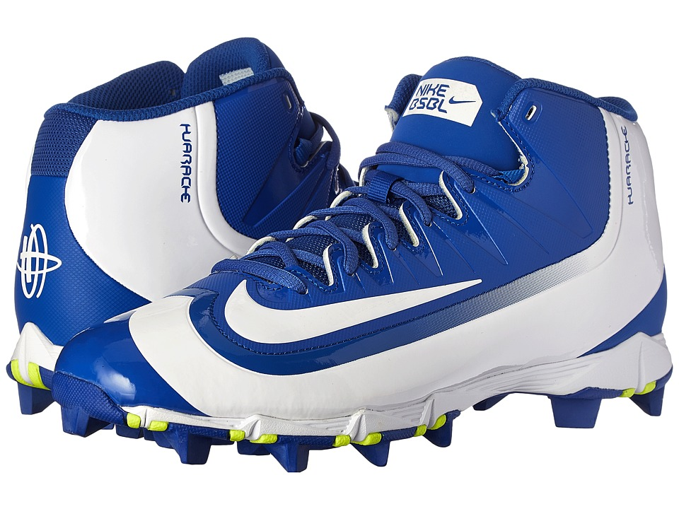Nike - Huarache 2KFilth Keystone Mid (Game Royal/Volt/White) Men's Cleated Shoes