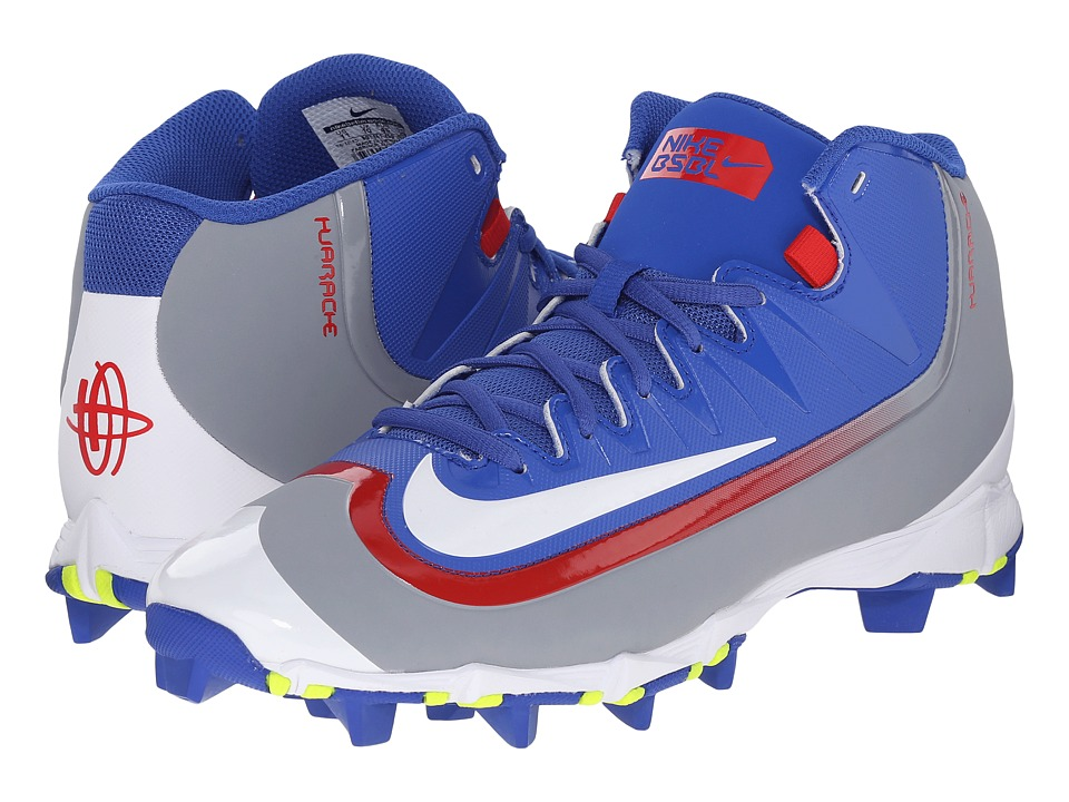 Nike - Huarache 2KFilth Keystone Mid (Game Royal/Stealth/White/University Red) Men's Cleated Shoes