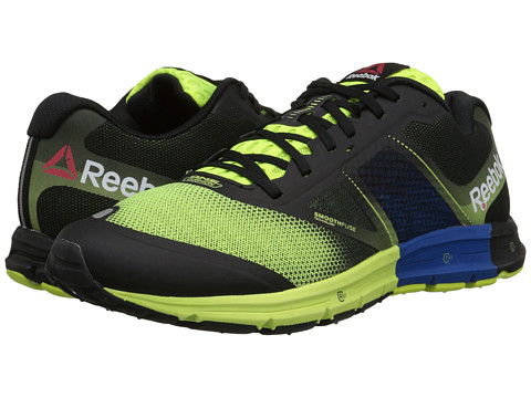 Reebok - One Cushion 2.0 (Solar Yellow/Black/Impact) Men