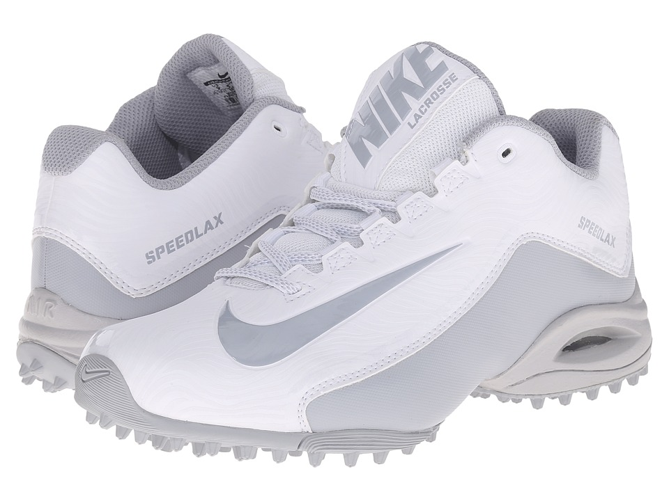 Nike - Speedlax 5 Turf (White/Wolf Grey/Wolf Grey) Women's Cleated Shoes