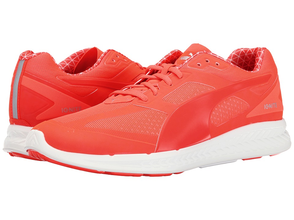 PUMA Ignite PWRWarm Fiery Coral-White Mens Shoes