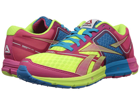 Reebok - ONE Cushion (Pink Fusion/Neon Yellow) Women